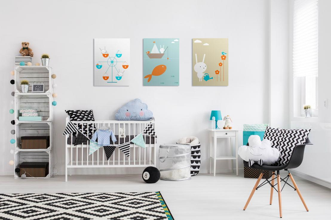<p>We love the idea of playing with millions of different hues for baby's room (from ballet-slipper pink to sapphire blue), but what if you choose not to know if it's a boy or a girl until the big day? Take it from us: rooms enveloped in greens and yellows are overrated.</p><p>Modern nursery ideas rather opt for a soft, neutral colour scheme (think creams, off-whites, light greys, etc.) to keep it gender neutral, yet elegant. This will also help to keep the room looking and feeling cosy. Items like a simple white wardrobe and rocking chair can stay on for years, regardless of the room or colour palette. Then, add more brightly coloured accessories (in the appropriate tone) later on once baby has arrived.</p>  Credits: homify / Pixers