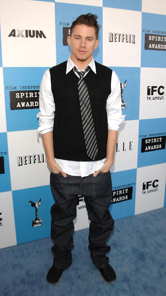 """Channing Tatum, 2007<br><br>We love us some Channing Tatum, but this look screamed """"Dbag fratboy chic."""" Well, minus the chic."""