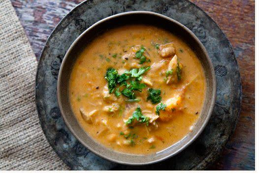 "<strong>Get the <a href=""http://www.simplyrecipes.com/recipes/african_chicken_peanut_stew/"" rel=""nofollow noopener"" target=""_blank"" data-ylk=""slk:African Chicken Peanut Stew recipe from Simply Recipes"" class=""link rapid-noclick-resp"">African Chicken Peanut Stew recipe from Simply Recipes</a></strong>"
