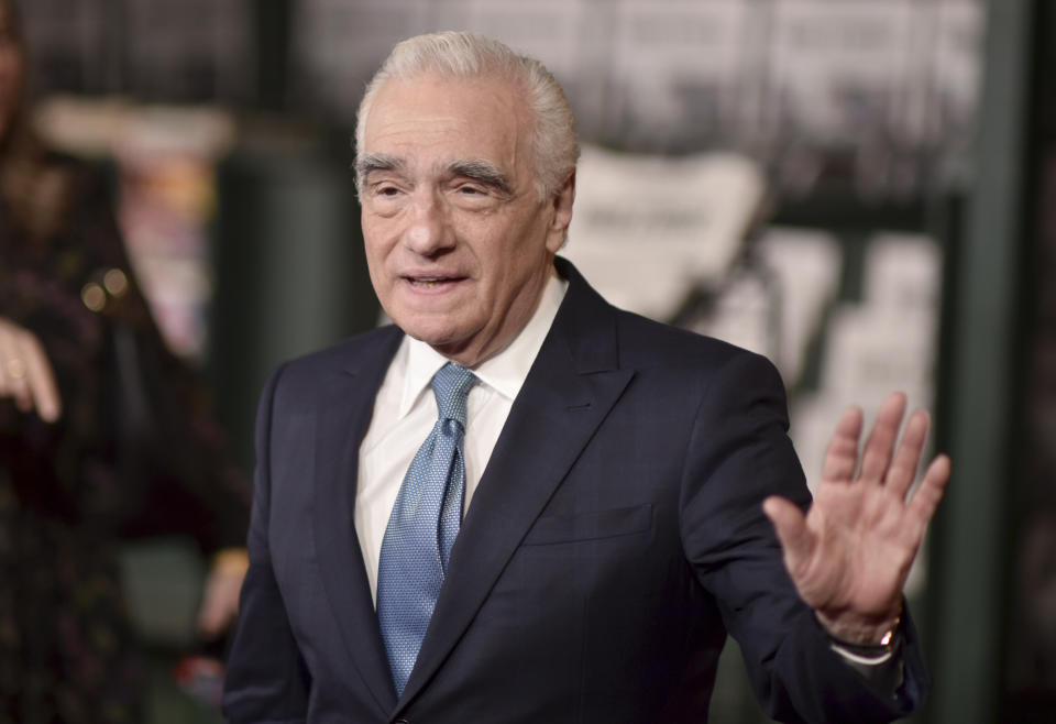 """Director Martin Scorsese arrives at the Los Angeles premiere of """"The Irishman"""" on Thursday, Oct. 24, 2019, at the TCL Chinese Theatre. (Photo by Richard Shotwell/Invision/AP)"""