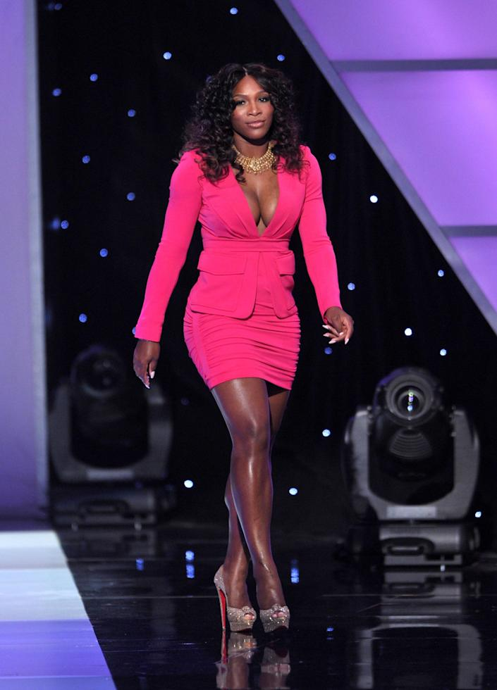 Tennis player Serena Williams speaks onstage at The 2011 ESPY Awards held at the Nokia Theatre L.A. Live on July 13, 2011 in Los Angeles, California. (Photo by John Shearer/WireImage)