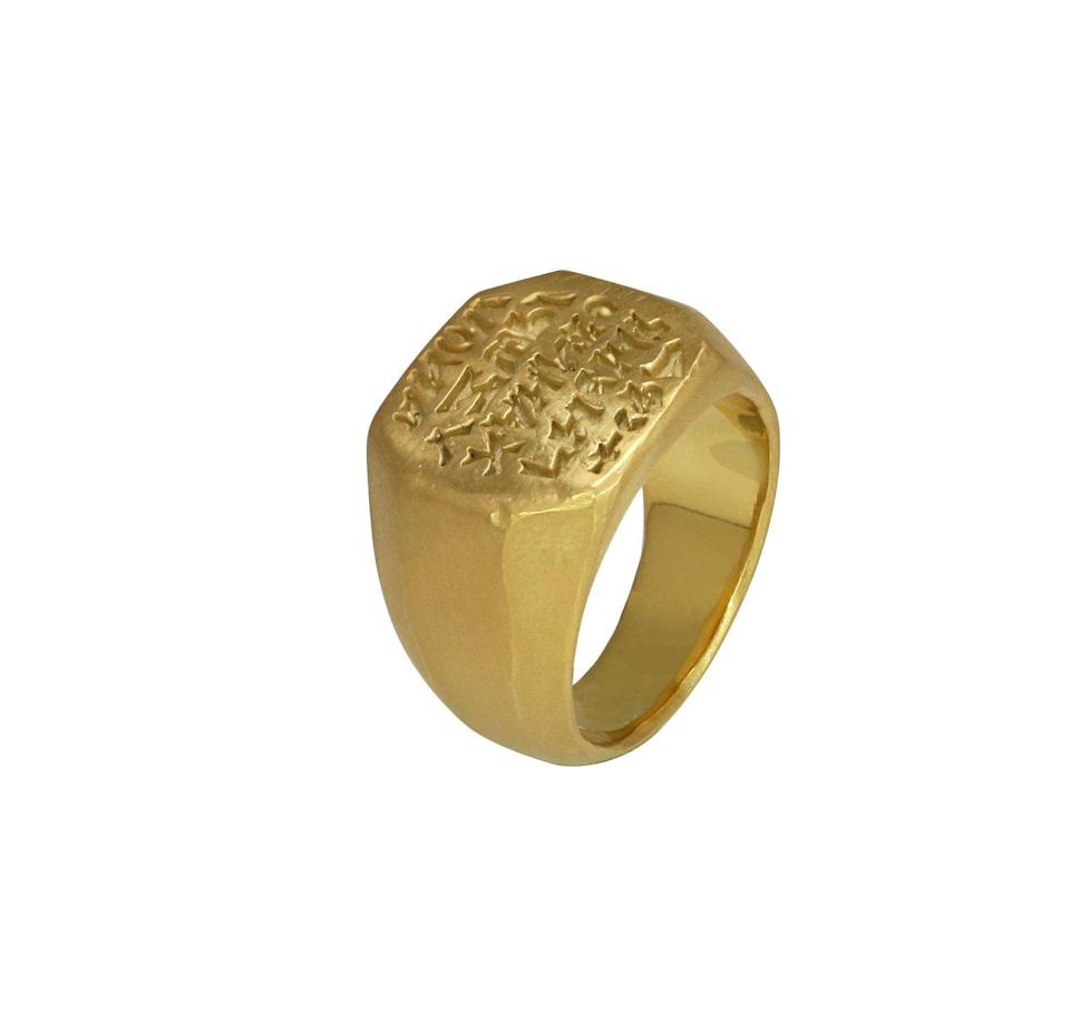 "<p>18k yellow gold, weight: 31.5g, various sizes.<br>(Photo: <a href=""https://yeezysupply.com/products/s4003"" rel=""nofollow noopener"" target=""_blank"" data-ylk=""slk:Yeezy Supply"" class=""link rapid-noclick-resp"">Yeezy Supply</a>) </p>"