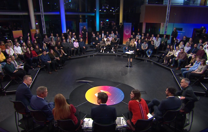 Nigel Farage appeared on a panel on Question Time (Picture: BBC)