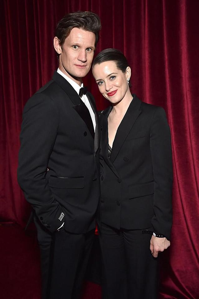 <p>Matt Smith and Claire Foy attend the Netflix Golden Globes after-party at the Waldorf Astoria Beverly Hills. (Photo: Kevin Mazur/Getty Images for Netflix) </p>