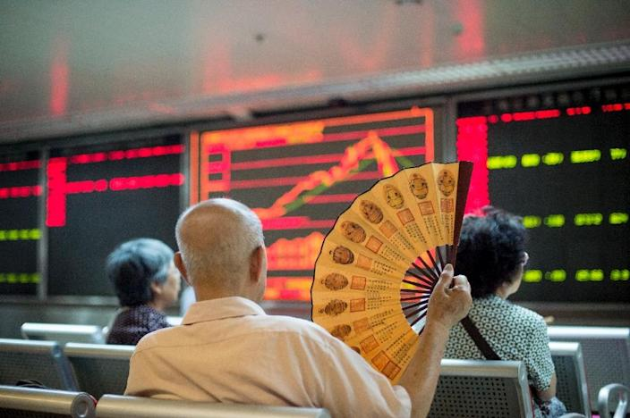 Chinese shares have slid on fears about the health of the economy (AFP Photo/Fred Dufour)