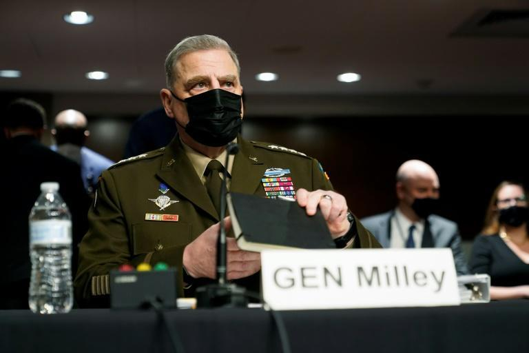 General Mark Milley, chairman of the US Joint Chiefs of Staff, said his calls to his Chinese counterparts in late 2020 and early 2021 were intended to de-escalate tensions (AFP/Patrick Semansky)