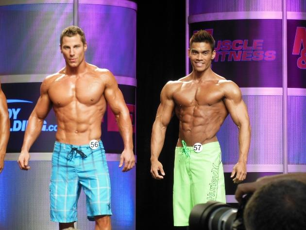 Adrian Tan onstage at Mr Olympia Muscle & Fitness Search 2013 (Adrian Tan Photo)