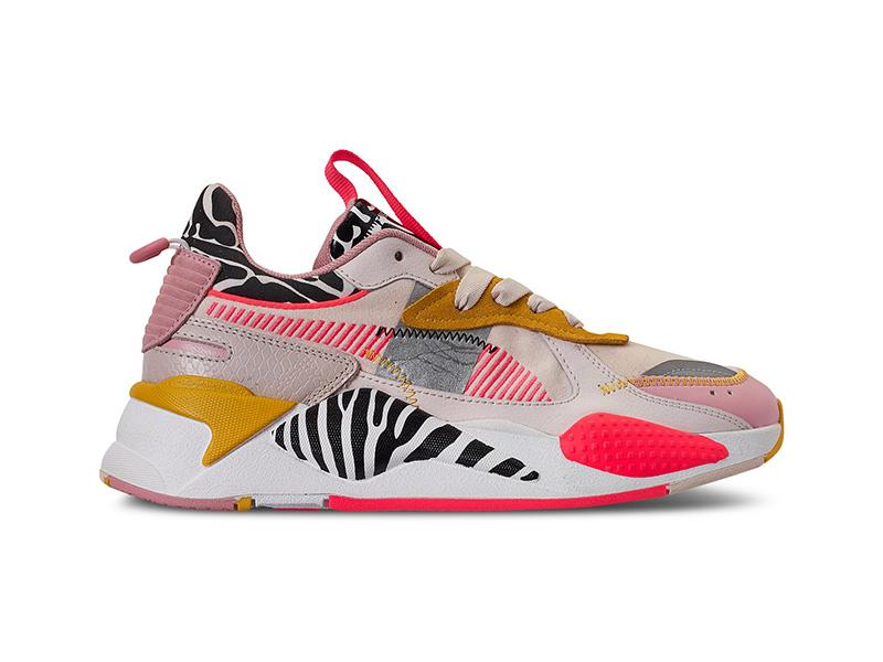"""""""Chunky sneakers show no signs of slowing down and are the ideal gift for any woman on your list,"""" says Davignon. """"This season we love the idea of bold color block construction with pops of bright paneling offsetting classic white leather. A touch of pattern mixing takes this trend to the next level, like these Puma RS-X sneakers."""" (Photo: Macy's) <a href=""""https://fave.co/35hHSrB"""" rel=""""nofollow noopener"""" target=""""_blank"""" data-ylk=""""slk:SHOP IT:"""" class=""""link rapid-noclick-resp""""><strong>SHOP IT: </strong></a><strong>Puma Rs-X Unexpected Mixes Sneakers, $110, </strong><a href=""""https://fave.co/35hHSrB"""" rel=""""nofollow noopener"""" target=""""_blank"""" data-ylk=""""slk:macys.com"""" class=""""link rapid-noclick-resp""""><strong>macys.com</strong></a>"""
