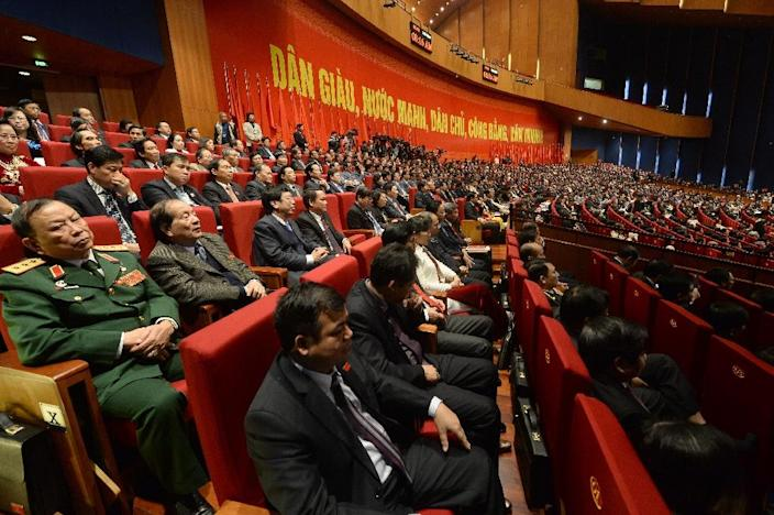 Vietnam's secretive Communist Party, which has ruled since the 1975 end of war, is to reshuffle its top brass, with 10 out of 16 politburo members, including the party general secretary, president and prime minister, technically due to retire (AFP Photo/Hoang Dinh Nam)