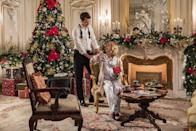 """<p>It's Christmastime in Aldovia, and a royal baby is on the way! Queen Amber (Rose McIver) and King Richard (Ben Lamb) prepare for their first child's arrival, which coincides with a pair of foreign dignitaries visiting their kingdom. But when the priceless treaty goes missing, peace is jeopardized and an ancient curse erupts. Uh-oh!</p> <p>Watch <a href=""""https://www.netflix.com/title/81029841"""" class=""""link rapid-noclick-resp"""" rel=""""nofollow noopener"""" target=""""_blank"""" data-ylk=""""slk:A Christmas Prince: The Royal Baby""""><strong>A Christmas Prince: The Royal Baby</strong></a> on Netflix now.</p>"""