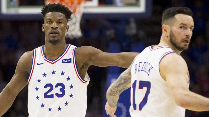 Pictured here, former 76ers teammates Jimmy Butler and JJ Redick.