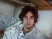 FILE PHOTO: Dzhokhar Tsarnaev is pictured in this handout photo presented as evidence by the U.S. Attorney's Office in Boston