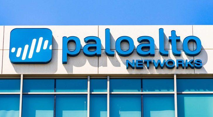Palo Alto Networks (PANW) logo on corporate building