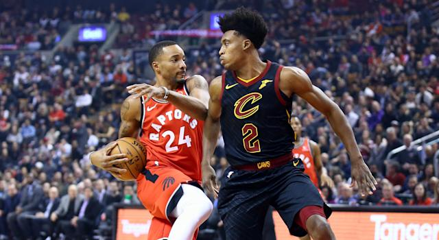 Norman Powell exploded for 26 points in a blowout win over the helpless Cleveland Cavaliers in Toronto on Monday. (Photo by Vaughn Ridley/Getty Images)