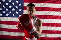 Boxer Errol Spence poses for a portrait during the 2012 U.S. Olympic Team Media Summit in Dallas, May 15, 2012.