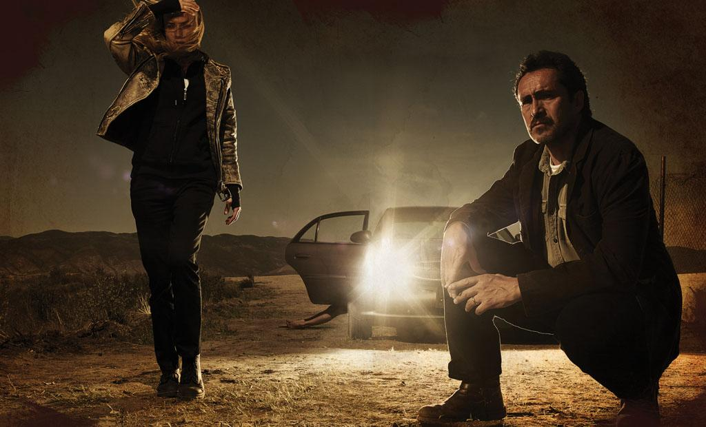 "Diane Kruger as Sonya Cross and Demian Bichir as Marco Ruiz in FX's ""The Bridge."""