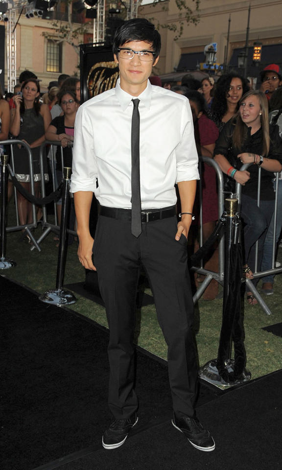 "<a href=""http://movies.yahoo.com/movie/contributor/1809901438"">Harry Shum Jr.</a> at the Los Angeles premiere of <a href=""http://movies.yahoo.com/movie/1810033914/info"">Fame</a> - 09/23/2009"