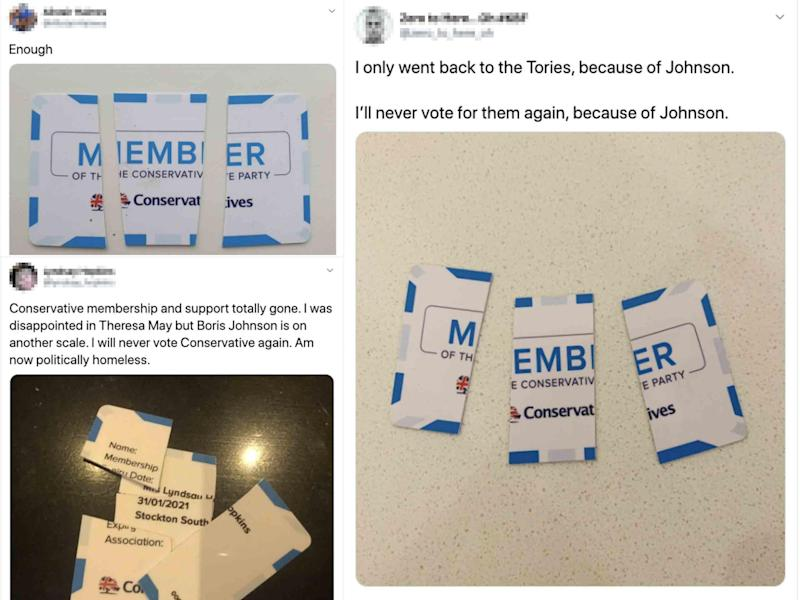 Members posted pictures of their cards on social media: Twitter