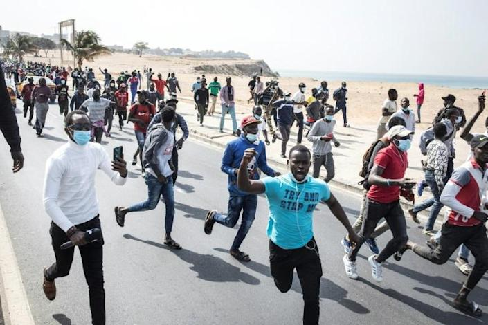 Supporters of Senegal's opposition leader Ousmane Sonko clashed with police on Wednesday