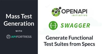 Generate large batches of functional API tests from Swagger/OAS specs in API Fortress with a new feature: Mass Functional Test Generation. Easily reuse API Fortress functional tests as integration and load tests, and functional uptime monitors. Now, shift functional testing left. Deploy on-premises for internal API monitoring. Transform API quality.