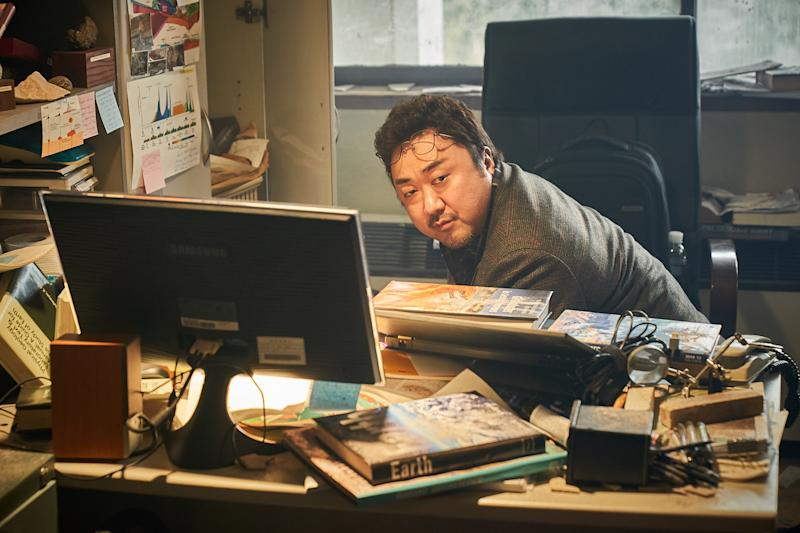 Ma Dong-seok, or Don Lee, as Kang Bong-rae in South Korean volcanic disaster movie Ashfall. (PHOTO: Encore Films)