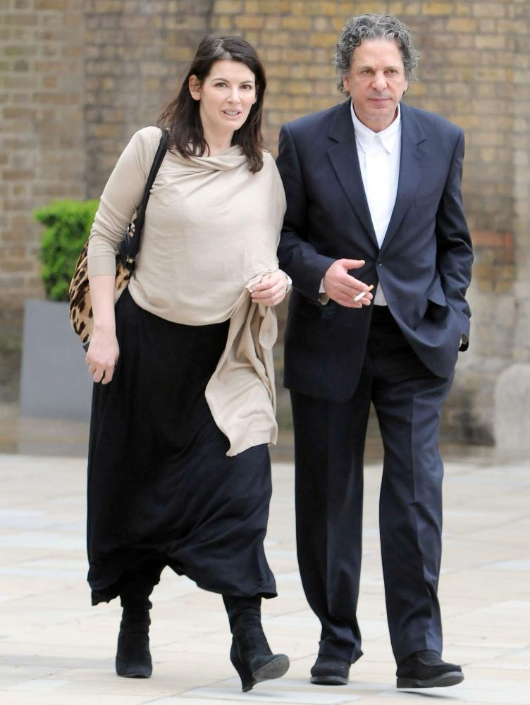 Nigella Lawson with her second husband, Charles Saatchi, in 2009.