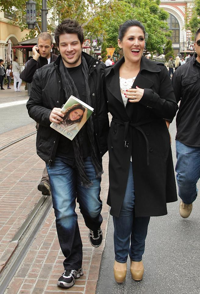 LOS ANGELES, CA - APRIL 23:  Ricki Lake (R) and Christian Evans are sighted at The Grove on April 23, 2012 in Los Angeles, California.  (Photo by Noel Vasquez/FilmMagic)