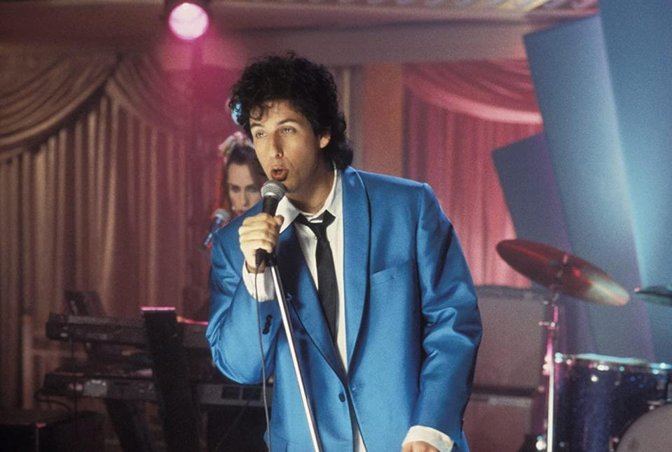 <p> <strong>UK:</strong> To rent on Amazon Prime Video </p> <p> <strong>US:</strong> AMC on Demand </p> <p> This sappy but funny romcom sees Adam Sandler's wedding singer fall in love with engaged Julia (Drew Barrymore), who's not quite sure if she's marrying the right man. With romance at its heart, it's a sweet jaunt and one of Adam Sandler's best. </p>