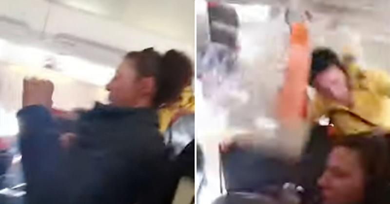 Violent Turbulence Sends Flight Attendant Crashing Into a Plane's Ceiling in Terrifying Video