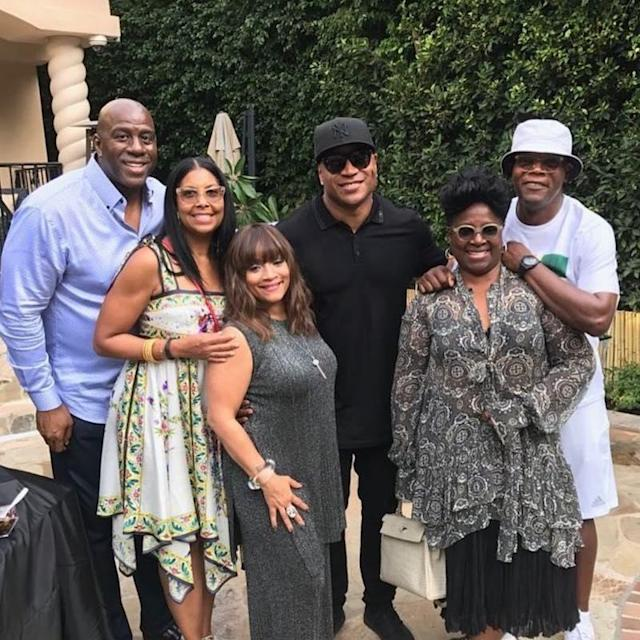 """<p>The perpetually cool actor gave a peek at a fete that he and Magic Johnson gave LL Cool J to mark a very special occasion: The hip-hop star is one of five performers who will be honored for their contributions to American culture in a December ceremony. """"Helping surprise @llcoolj celebration for his Kennedy Center Honor!"""" Jackson tagged it. (Photo: <a href=""""https://www.instagram.com/p/BY6PAOXgm0T/?taken-by=samuelljackson"""" rel=""""nofollow noopener"""" target=""""_blank"""" data-ylk=""""slk:Samuel L. Jackson via Instagram"""" class=""""link rapid-noclick-resp"""">Samuel L. Jackson via Instagram</a>) </p>"""