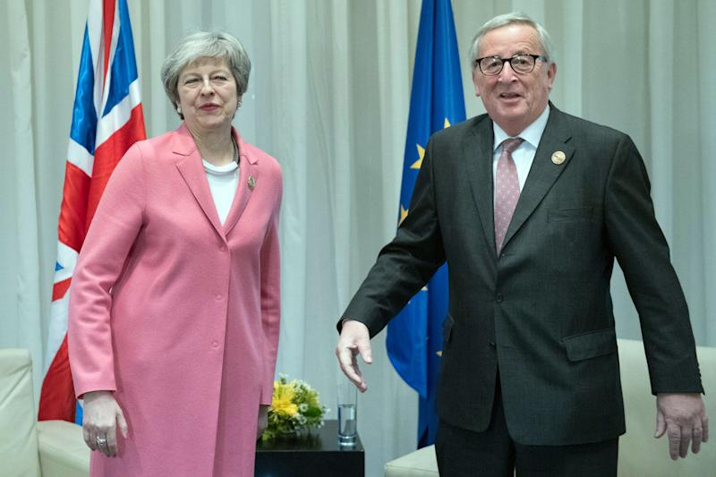 Prime Minister Theresa May holding a bilateral meeting with President of the European Commission Jean-Claude Juncker during the attending the EU-League of Arab States Summit in Sharm El-Sheikh, Egypt.