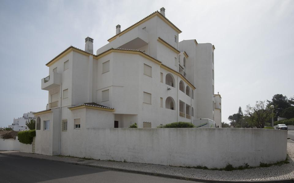 The Portuguese apartment complex where Madeleine went missing in 2007. (Rex)