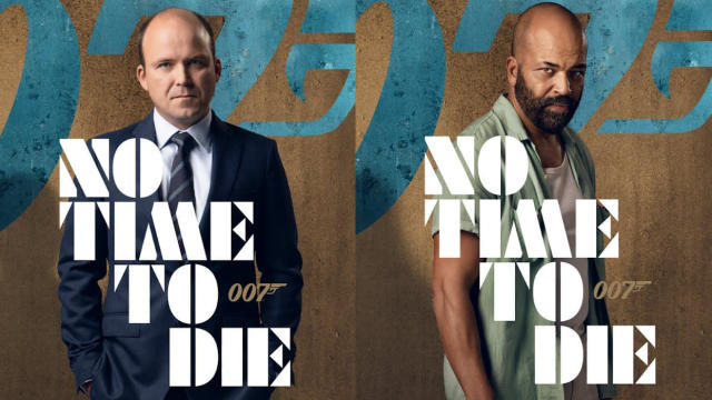 Character posters for Rory Kinnear and Jeffrey Wright in James Bond adventure 'No Time to Die'. (Credit: Eon/Universal)