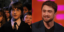 """<p><strong>First Film: </strong><em>Harry Potter and the Sorcerer's Stone</em></p><p><strong>Character Played: </strong>Harry Potter</p><p><strong>Age: </strong>30</p><p>Starting at the age of of 11, Radcliffe brought to life our beloved boy wizard with the lightening scar. Nowadays, the actor has taken on roles that are a far cry from that of the Boy Who Lived. In 2020, he starred in Broadway dramedy <em>Endgame </em>and is also set to star in the <em><a href=""""https://variety.com/2019/tv/news/daniel-radcliffe-unbreakable-kimmy-schmidt-interactive-special-1203242332/"""" rel=""""nofollow noopener"""" target=""""_blank"""" data-ylk=""""slk:Unbreakable Kimmy Schmidt"""" class=""""link rapid-noclick-resp"""">Unbreakable Kimmy Schmidt </a></em><a href=""""https://variety.com/2019/tv/news/daniel-radcliffe-unbreakable-kimmy-schmidt-interactive-special-1203242332/"""" rel=""""nofollow noopener"""" target=""""_blank"""" data-ylk=""""slk:Netflix special"""" class=""""link rapid-noclick-resp"""">Netflix special</a>.<em><br></em></p>"""