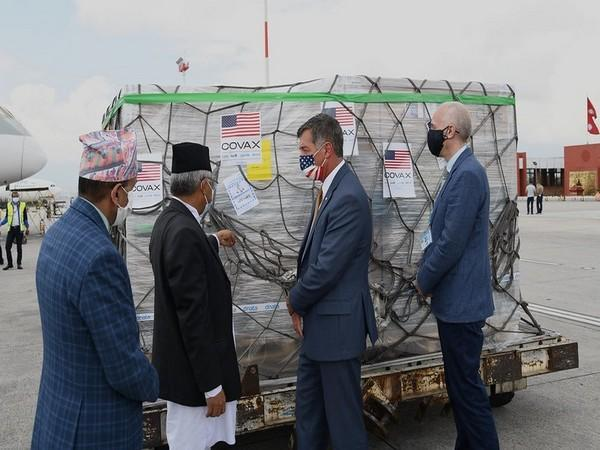 Nepal receives 1.53 million doses of Johnson and Johnson single-shot vaccines from the US on a grant basis. (ANI)