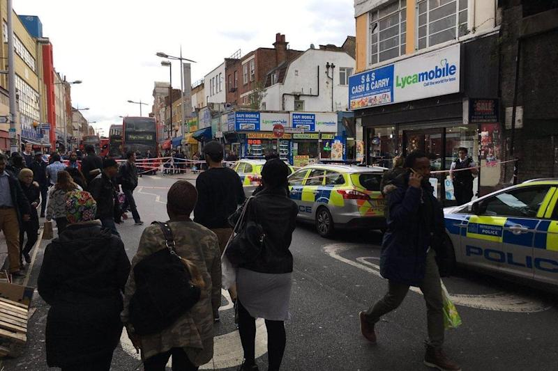 The scene outside Peckham Rye station. (Craig Thomas)