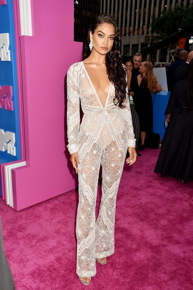 <p>She may not be well known in the US music circles, but Aussie model Shanina Shaik was out to make an impression at the 2018 MTV VMAs. <br />Photo: Getty </p>
