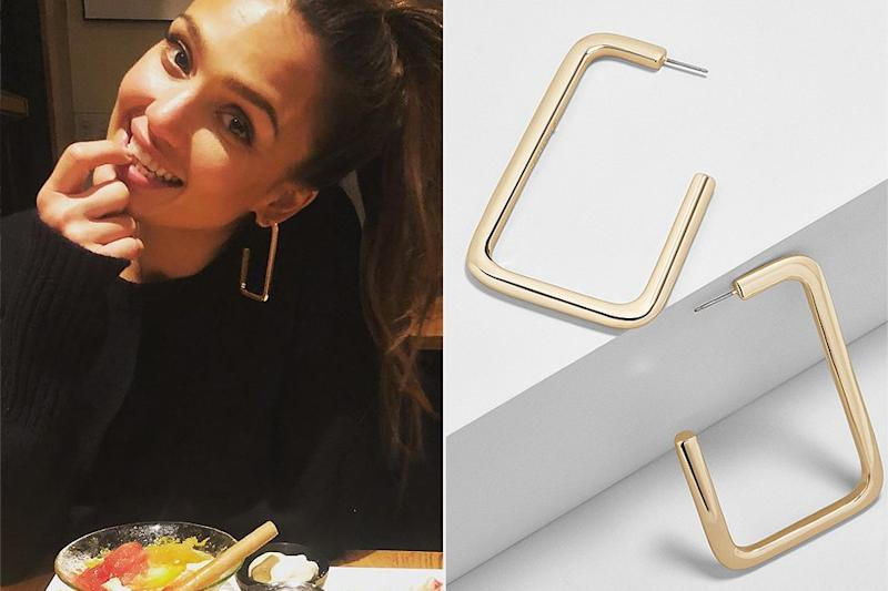 Hurry! Jessica Alba's Beloved Hoop Earrings Are Only $23 Today