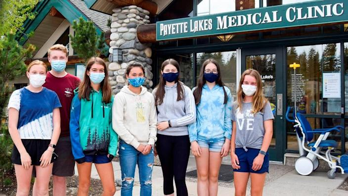 Wanting to get back to normal for their next school year, a group of teens join together to get their COVID-19 vaccine shots in May. Picture left to right: Fin Denning, Miles Denning, Adeline Bush, Lilly Mihlfeith, Mia Rider, Keira Rider, and Regan Curtin.