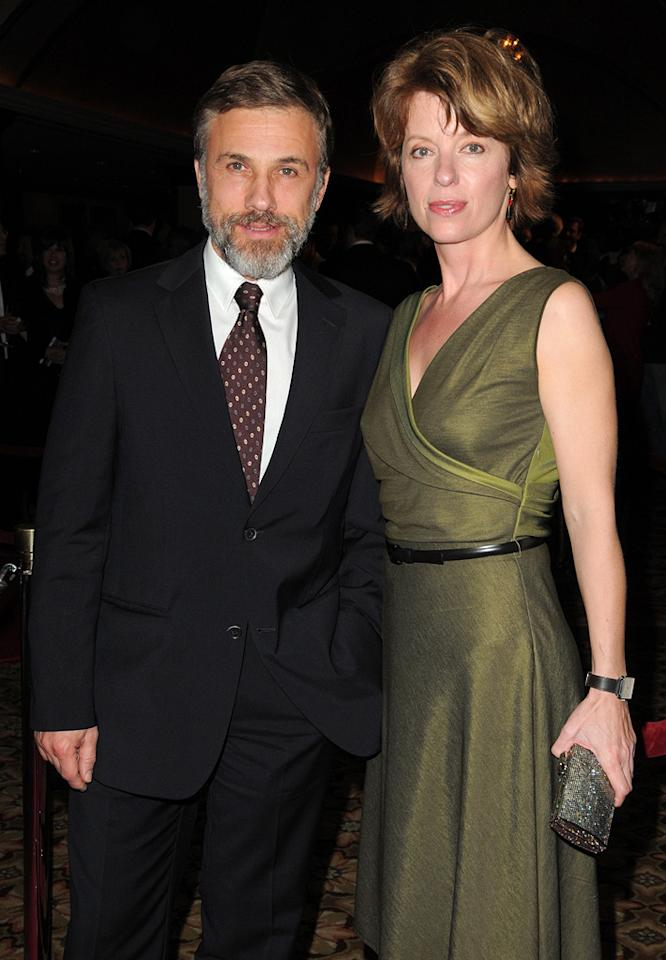 """<a href=""""http://movies.yahoo.com/movie/contributor/1809655132"""">Christoph Waltz</a> and guest at the 62nd Annual Directors Guild of America Awards in Century City, California on January 30, 2010."""