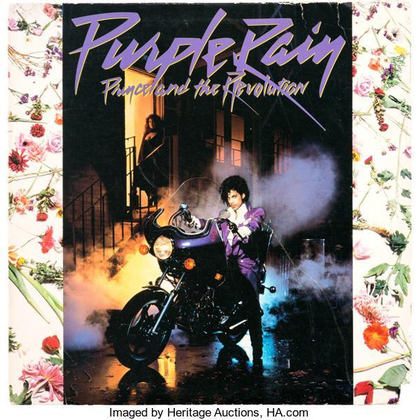 Prince's personal vinyl copy of the <em>Purple Rain</em> album is up for auction. (Photo: Heritage Auctions)