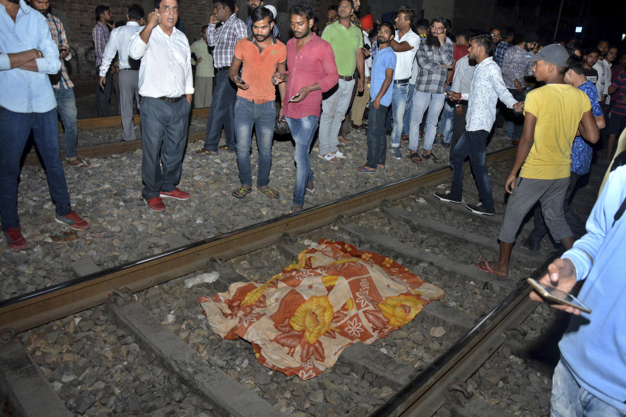 Train mishap leaves a trail of deaths and many injured