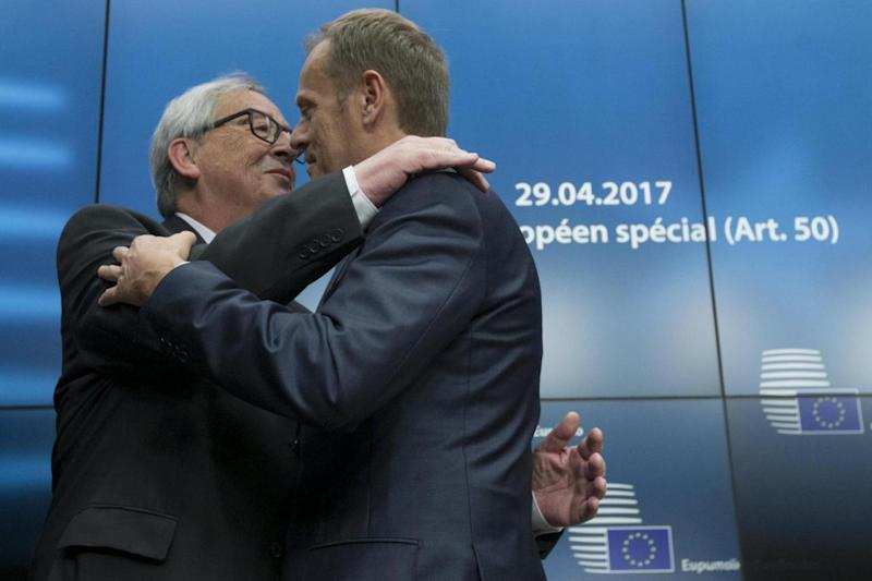 Summit: EU commission President Jean-Claude Juncker (L) and European Council President Donald Tusk (EPA)