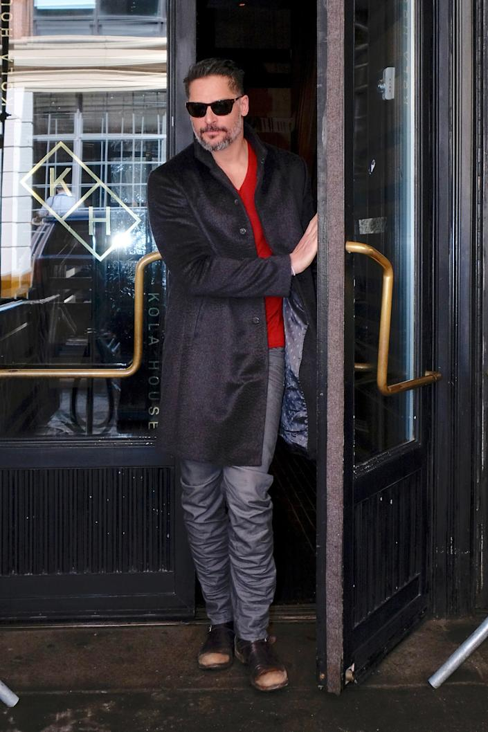 In between promoting his new movie Smurfs: The Lost Village Joe Manganiello stopped by Kola House for dinner with friends.
