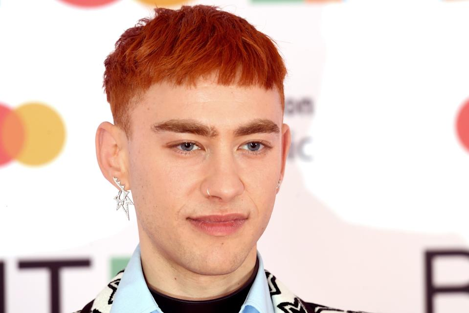 LONDON, ENGLAND - MAY 11: Olly Alexander attends The BRIT Awards 2021 at The O2 Arena on May 11, 2021 in London, England. (Photo by Dave J Hogan/Getty Images)