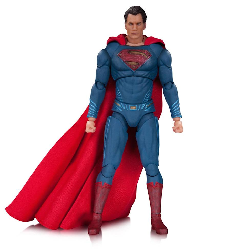 <p>Henry Cavill's ripped physique is captured in this <i>Batman v Superman</i> version of Krypton's favorite son. The figure includes a swappable head featuring Supes's glowing red eyes as well as three different sets of hands. <i>(Available in September; $45)</i></p>