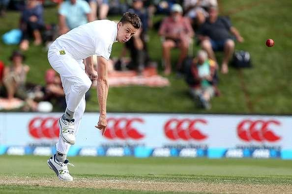 DUNEDIN, NEW ZEALAND - MARCH 09: Morne Morkel of South Africa bowls during day two of the First Test match between New Zealand and South Africa at University Oval on March 9, 2017 in Dunedin, New Zealand. (Photo by Dianne Manson/Getty Images)