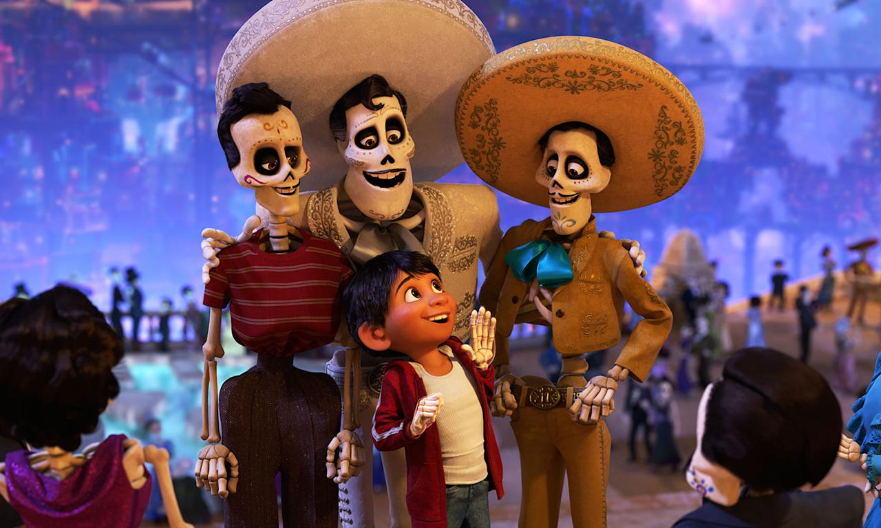 <p>Pixar heads to Mexico for its last non-sequel for a while. Against his family's wishes, music-loving Miguel ventures into the Land of the Dead tracks down iconic performer Ernesto de la Cruz, who may or may not have a family connection. </p>