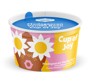 Cups of Joy, Coconut Bliss's first ever single serve ice cream indulgences, are perfect for consumers looking for a convenient and delicious plant-based treat. The cups are available in two flavors, Dark Chocolate, a dark and sultry option, and Madagascan Vanilla Bean, a creamy and smooth pocket-sized delight. The pack of four retails for $8.99.