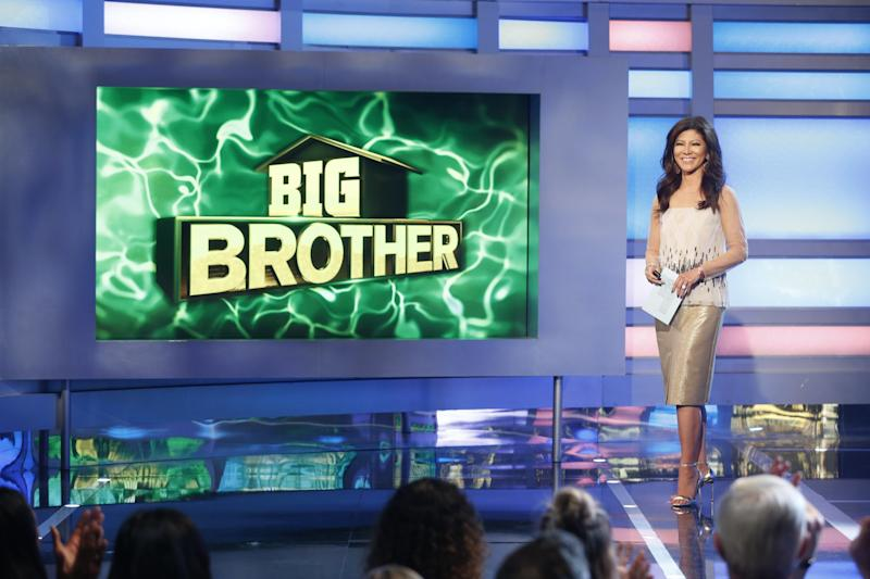 """Host Julie Chen on """"Big Brother"""" last month. Her husband, Les Moonves, was recently ousted as head of CBS. (Sonja Flemming/CBS via Getty Images)"""